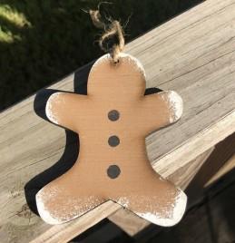 Wood Gingerbread Christmas Ornament