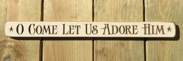 Primitive Engraved Wood Block G9033 - O come let us adore him