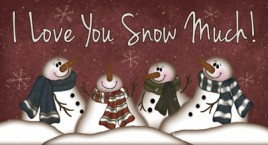 874ILY- I Love You Snow Much! Wood Sign