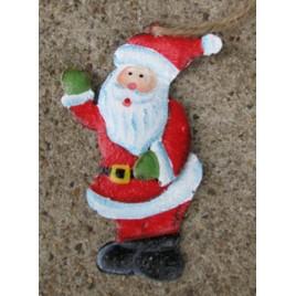 107031WS - Santa Waving Metal Ornament