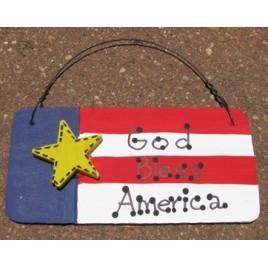 10977AF - God Bless America Wood Sign