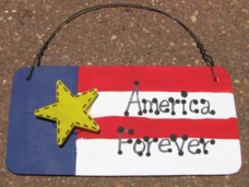 Patriotic Sign 10977AF - America Forever