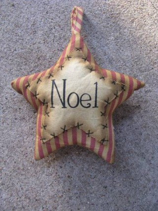 Primitive Decor 1146089SN - Stripe Noel Star