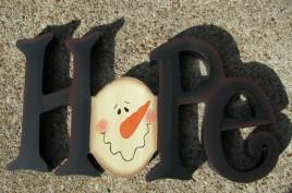 11653H - Hope wood Snowman Block