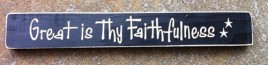 12420B - Great is Thy Faithfulness engraved wood block