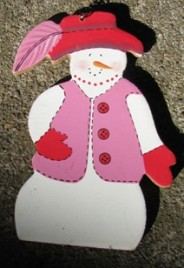 Red Hat Snowman Ornament 1247S
