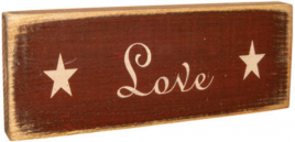 Love primitive Wood Block