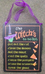 Halloween Decor KLY1259036-Witch To Do List