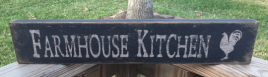 Primitive Wood Block   12648  Farmhouse Kitchen with Rooster
