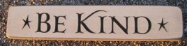 12BK Be Kind engraved wood block