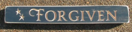 Forgiven Primitive Engraved Wood Block