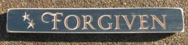 Forgiven Primitive Engraved Wood Block