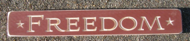 Primitive Engraved Wood Block  12FR Freedom