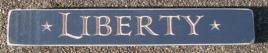 Primitive Engraved Wood Block 12L  Liberty