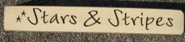 Primitive Engraved Wood Block 12SAS Stars and Stripes