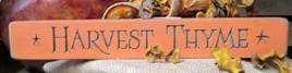 12HT - Harvest Thyme engraved wood block