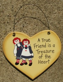 1600D - A true Friend is a Treasure of the Heart wood sign