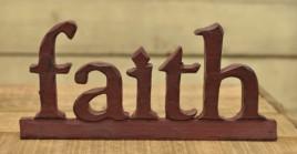 16032R - Faith Block Resin Free Standing