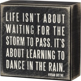 Primitive Box Sign - 16336 Dance In The Rain