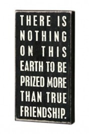 Primitive Wood Box Sign16338 - True Friendship