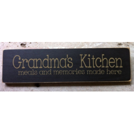 Primitive Country 1687BK - Grandmas Kitchen Wood Block
