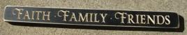 1807B- Faith Family Friends Engraved wood block