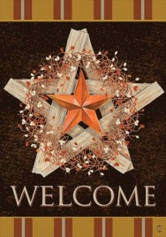 2017ABNB Autumn Barn Star Garden Flag