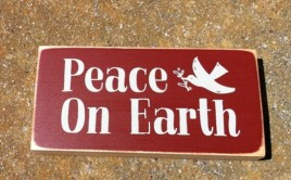 POE2069 Peace on Earth Wood Primitive Block