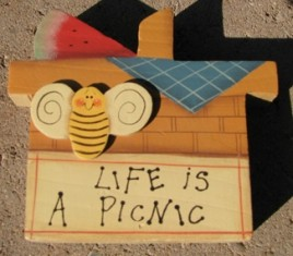 2110LP- Life is a Picnic wood block