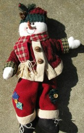 Primitive Snowman 264238SN- Christmas Cloth
