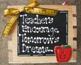 Teacher Gift  2701 - Teachers Encourage Tommorrow's Dreams Teacher Supply Box