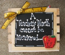 Teacher Gifts 2704 A teacher's worth cannot be measured Supply Box