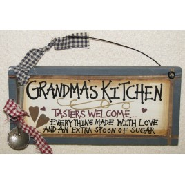 27066GK - Grandmas Kitchen Tasters Welcome Wood Sign