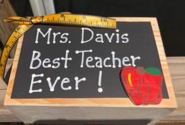 Teacher Gifts  2728DC  (Teacher's Name)  Best Teacher Ever! Supply Wood Box