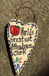 Teacher Gifts 3021  Worlds Greatest  Attendance Clerk