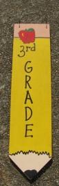 3075P3- 3rd Grade Teacher wood pencil