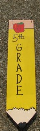 3075P5- 5th Grade Teacher wood pencil