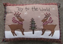 Christmas Decor 31146R - Joy to the World Pillow