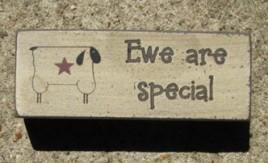 31392S - Ewe Are Special wood block