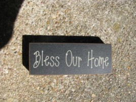 31417BOH  Bless Our Home wood block