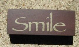 31419S - Smile wood block