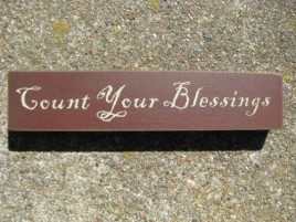 31423CYB-Count Your Blessings Wood Block
