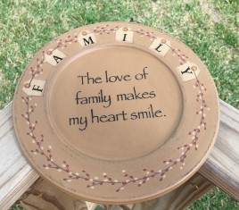 Primitive Wood Plate 31493Y - Family Tag Plate