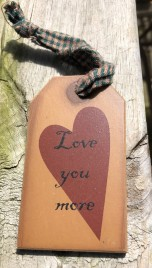 31623L- Loved you more wood gift tag