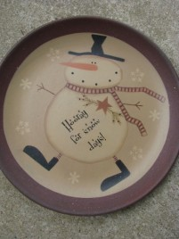 31824H - Hooray for Snow Days! wood plate