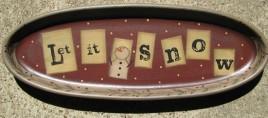 32108LS - Let It Snow wood plate