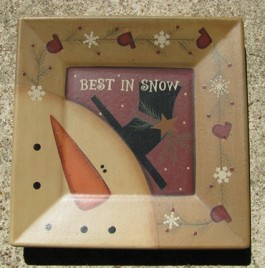 32180BS - Best in Snow snowman wood plate
