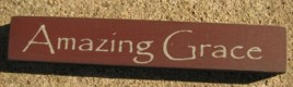 32317AM - Amazing Grace mini wood block