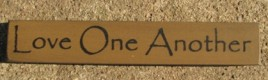 32318LG Love One Another mini wood block