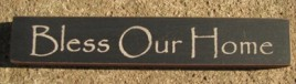 32320BB-Bless Our Home MINI wood block